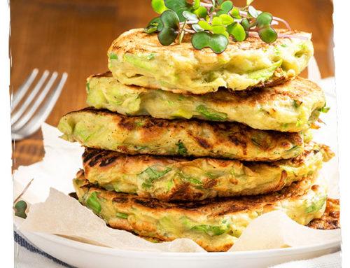 Pancakes healthy courgette chèvre