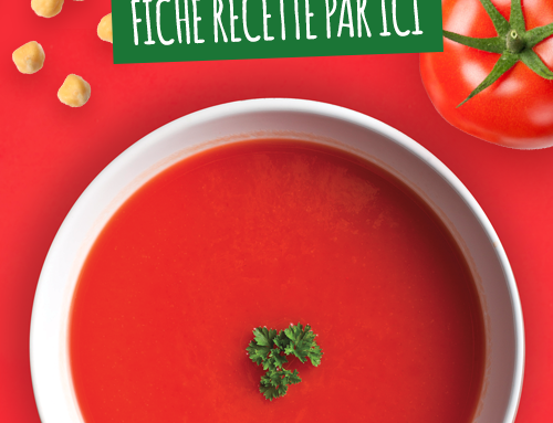 Soupe pois chiche et tomate épicée